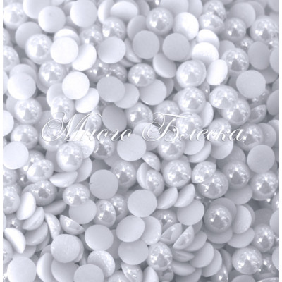 Полужемчуг белый фарфоровый 7мм ss34, 100шт