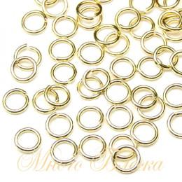 Колечки соединительные 10шт, золото Корея, 3 мм*0.6мм