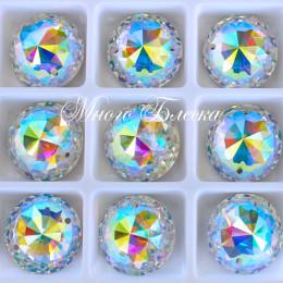 """Круг-купол """"Кристалл АВ"""" 16мм SWA crystalls"""