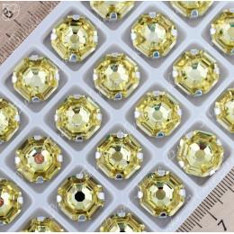 "Стразы в цапах Октагон ""Джонквиль"" 14 мм SWA crystalls"