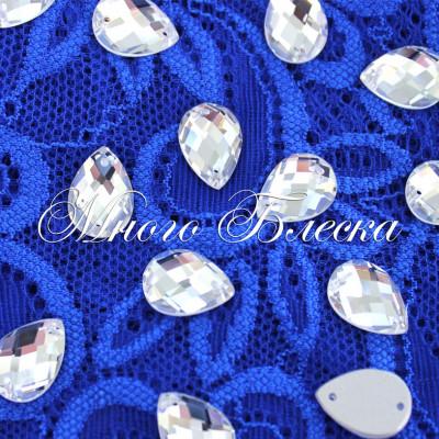 """Капля R """"Кристалл"""" 10*14мм SWA crystalls"""