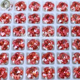 """Стразы в цапах Квадрат """"Падпараджа"""" 8 мм SWA crystalls"""