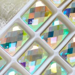 "Прямоугольник ""Кристалл АВ"" 18*25мм SWA crystalls"
