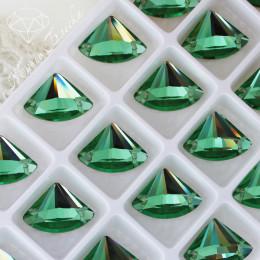 "Веер ""Перидот"" 13х18мм SWA crystalls"