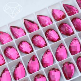 """Капля-бри """"Роза"""" 11*18 мм  SWA crystalls"""