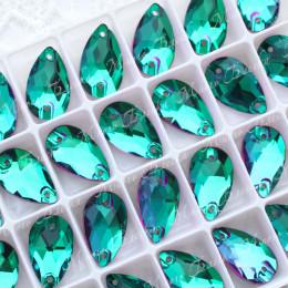 """Капля """"Эмералд"""" 11*18 мм SWA crystalls"""