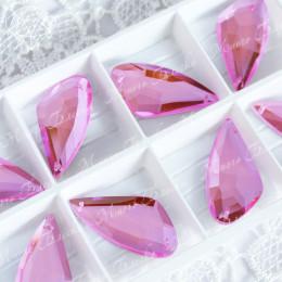 "Крыло бабочки ""Лайт пинк"" 18х35мм SWA crystalls"