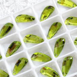 """Крылышки """"Хризолит""""19*8мм SWA crystalls"""
