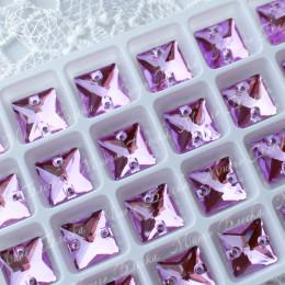 "Квадрат ""Сирень"" 12 мм SWA crystalls"