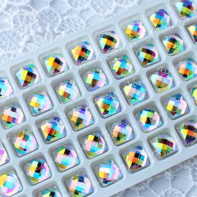 """Квадрат-шахматка """"Кристалл АВ"""" 10мм SWA crystalls"""