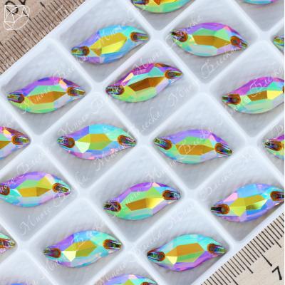 "Лепесток ""АВ Топаз"" 09х20мм SWA crystalls"