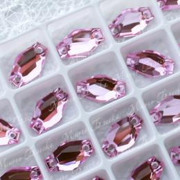 "Ромбовидные стразы ""Лайт роза"" 11*18мм SWA crystalls"