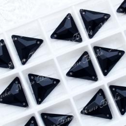 """Треугольник """"Блэк джет"""" 16мм SWA crystalls"""
