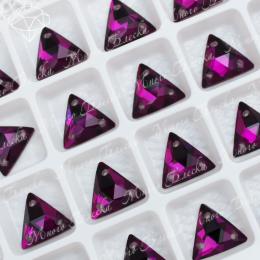 """Треугольник-мозаика """"Аметист дарк"""" 12мм SWA crystalls"""