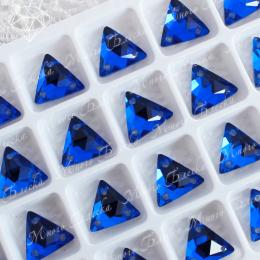 """Треугольник-мозаика """"Капри блю"""" 12мм SWA crystalls"""