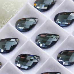 "Капля изогнутая ""Блэк даймонд"" 14*21мм  SWA crystalls"