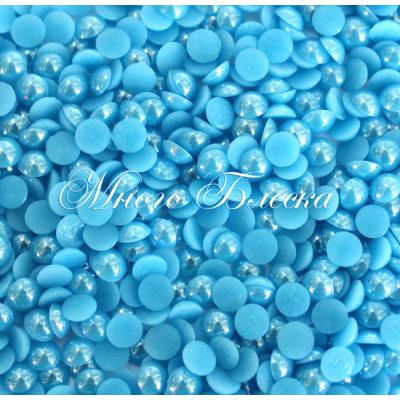 Полужемчуг голубой фарфоровый 4мм ss16, 100шт