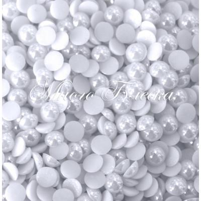 Полужемчуг белый фарфоровый 5мм ss20, 100шт