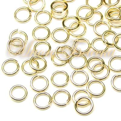 Колечки соединительные 10шт золото, 4 мм*0,6мм
