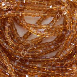 Бусины кубики 4мм Топаз 10шт, стекло