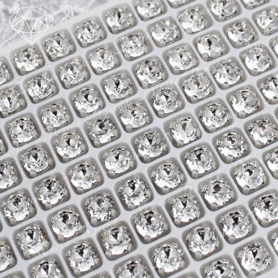 "Стразы в цапах Шатон ""Кристалл"" 6 мм SGA crystalls"