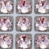 """Стразы в цапах Шатон """"Роза лайт"""" 8 мм SGA crystalls"""
