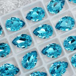 "Стразы в цапах Капля ""Аквамарин дарк"" 10-25мм SGA crystalls"