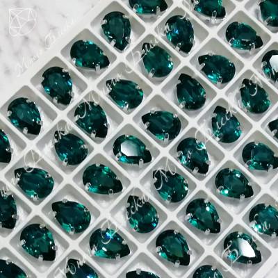"Стразы в цапах Капля ""Блю циркон"" 7-18мм SGA crystalls"