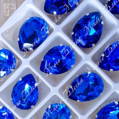 "Стразы в цапах Капля ""Капри блю"" 13*18 мм SGA crystalls"