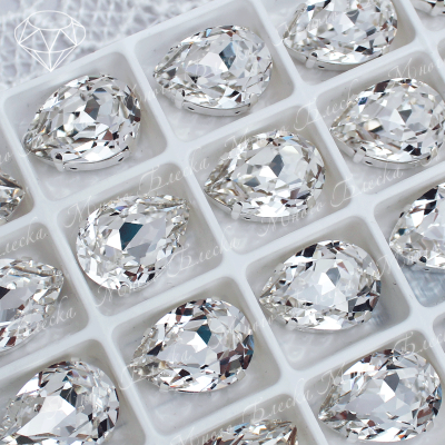 "Стразы в цапах Капля ""Кристалл"" 10-18 мм SWA crystalls"