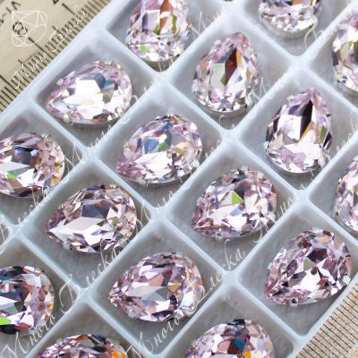 """Стразы в цапах Капля """"Роза лайт"""" 13-25 мм SWA crystalls"""