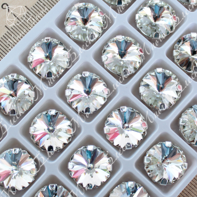 """Стразы в цапах Риволи """"Кристалл"""" 10, 12 или 14мм SGA crystalls"""