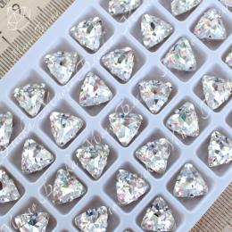 """Стразы в цапах Треугольник """"Кристалл"""" 10мм SWA crystalls"""