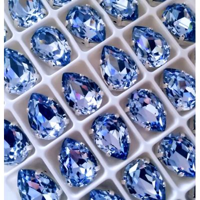 """Стразы в цапах Капля """"Сапфир лайт""""10*14 мм SGA crystalls"""