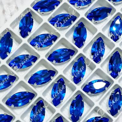 """Стразы в цапах Лодочка """"Капри блю"""" 7*15мм SGA crystalls"""