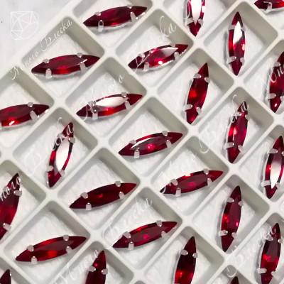 """Стразы в цапах Лодочка """"Сиам лайт"""" 4*15мм SGA crystalls"""