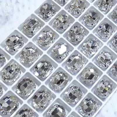 """Стразы в цапах Овал """"Кристалл"""" 10*12 мм SGA crystalls"""