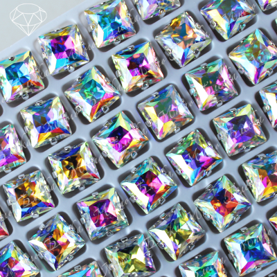 "Стразы в цапах Квадриллион ""АВ кристалл"" 08 мм SGA crystalls"