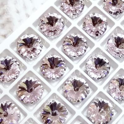 "Стразы в цапах Риволи ""Роза лайт"" 14мм SGA crystalls"