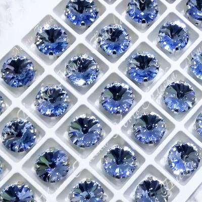 """Стразы в цапах Риволи """"Сапфир лайт"""" 10мм SGA crystalls"""