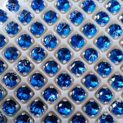 """Стразы в цапах Шатон """"Капри блю"""" 6 мм SGA crystalls"""