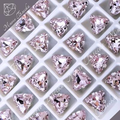 """Стразы в цапах Треугольник """"Роза лайт"""" 10мм SGA crystalls"""