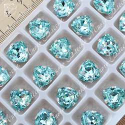 """Стразы в цапах Триллиант """"Аквамарин"""" 12мм SGA crystalls"""