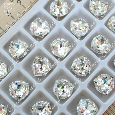 "Стразы в цапах Триллиант ""Кристалл"" 12мм SWA crystalls"