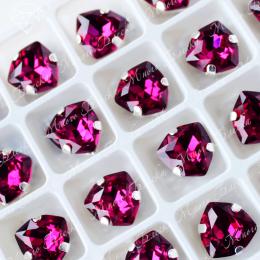 """Стразы в цапах Триллиант """"Фуксия"""" 12мм SWA crystalls"""