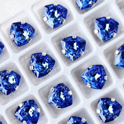 """Стразы в цапах Триллиант """"Сапфир"""" 12мм SGA crystalls"""
