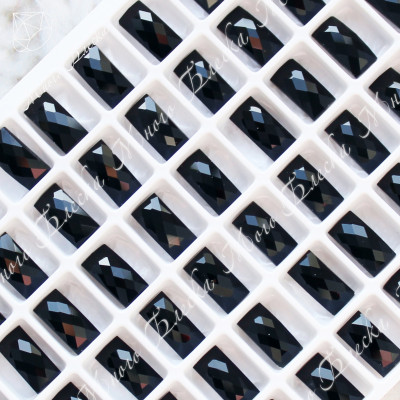 """Прямоугольник NHF 05*10мм """"Джет блэкSGA crystalls"""