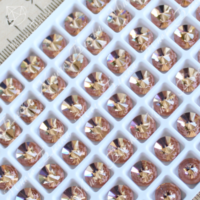 "Риволи NHF 8мм ""Лайт пич"" SGA crystalls"
