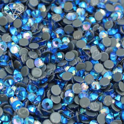 "Стразы SGA crystalls ""Сапфир лайт АВ"" 3.8-5мм хот фикс"