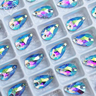 "Капля ""Аквамарин-АВ"" 07*12 мм SGA crystalls"